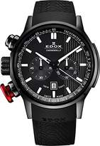 Edox Men's 10302 37N Gin Chronorally Analog Display Swiss Quartz Black Watch