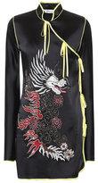Attico Embroidered satin dress