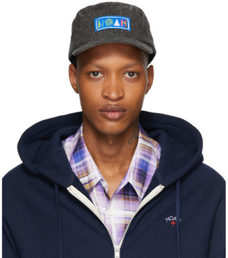 Noah NYC Black Recycled Canvas Hemingway Cap