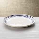 Crate & Barrel Lina Blue Stripe Round Platter