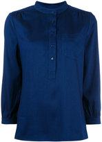 A.P.C. v-neck blouse - women - Viscose/Tencel - 34