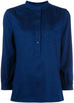 A.P.C. v-neck blouse - women - Viscose/Tencel - 38