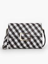 Talbots Gingham Buckle-Flap Shoulder Bag
