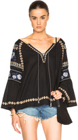 Suno Cross Stitch Tunic Blouse