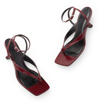 BY FAR Shoes Mindy Leather Sandals Heels
