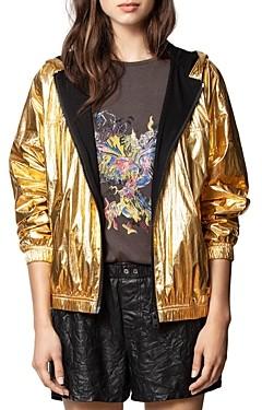 Zadig & Voltaire Metallic Gold Jacket