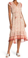 Thumbnail for your product : Love Stitch Flutter Sleeve Midi Dress