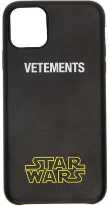 Vetements Black STAR WARS Edition Logo iPhone 11 Pro Max Case