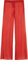 Balmain Silk-georgette wide-leg pants