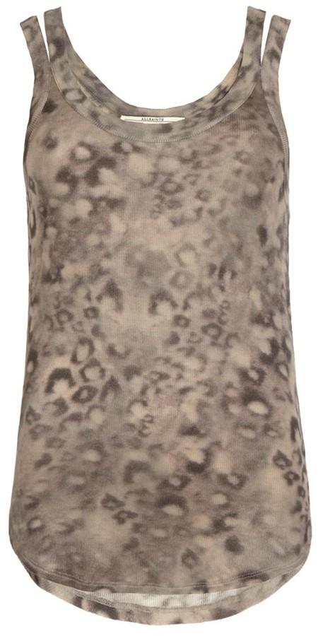 AllSaints Leopard Strap Vest