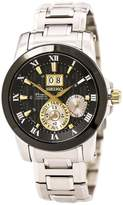 Seiko SNP129 Men's Premier Dial Stainless Steel Bracelet Power Reserve Kinetic Watch