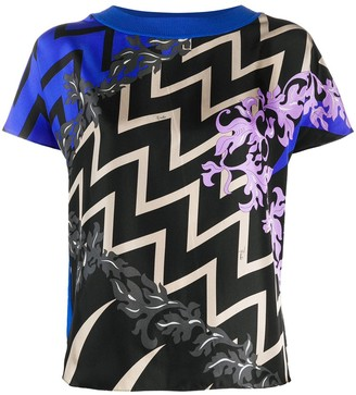 Emilio Pucci graphic print silk T-shirt