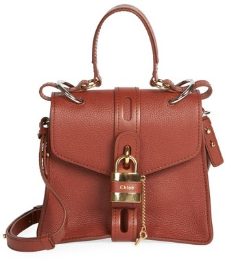 Chloé Aby Leather Top Handle Bag