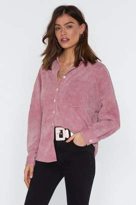 Nasty Gal Womens Corduroy Relaxed Shirt - Pink - 10