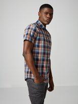 Frank + Oak Short-Sleeve Poplin-Cotton Shirt in Brandied Melon