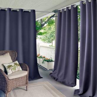 """Connor Solid Indoor/Outdoor Curtain Panel, 52"""" x 108"""""""