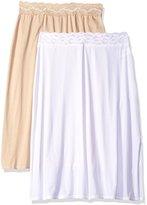 Vanity Fair Women's 2 Pack Body Foundation Half Slip 11172-24 inch Length