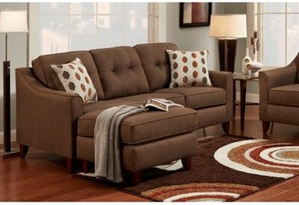 Winston Porter Howland Sofa & Chaise Sectional Upholstery Color: Stoked Chocolate, Orientation: Left Hand Facing
