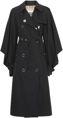 Burberry Cape Sleeve Gabardine Trench Coat