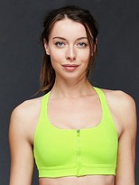 Gap Medium impact Coolmax® zip front bra