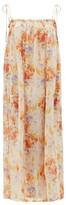 Loup Charmant Rimini Floral-print Cotton-blend Voile Dress - Womens - Yellow Multi