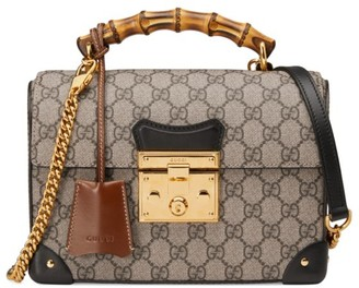 Gucci Padlock GG Small Bamboo Shoulder Bag