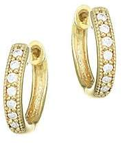 Jude Frances Women's Classic Diamond & 18K Yellow Gold Huggie Hoop Earrings/0.5""