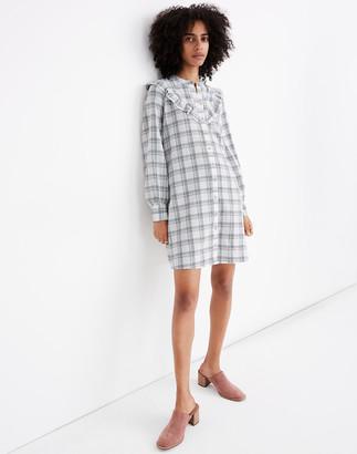 Madewell Plaid Ruffle-Yoke Shirtdress