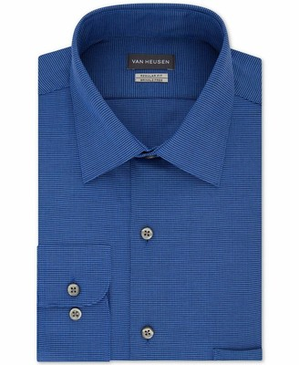Van Heusen Men's Dress Shirts Regular Fit Micro Houndstooth Spread Collar