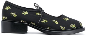 Nicole Saldaña Floral-Embroidered Shoes
