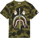 A Bathing Ape Sark camouflage cotton T-shirt 4-8 years