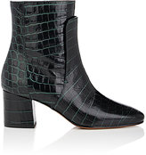 Givenchy Women's Paris Croc-Stamped Leather Ankle Boots