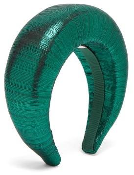 Flapper Edvige Lame Headband - Green