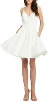 Mac Duggal 6-Week Shipping Lead Time Sweetheart Sleeveless Fit-and-Flare Dress w/ Pockets
