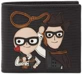 Dolce & Gabbana Applique Bifold Leather Wallet