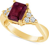 Macy's Certified Ruby (1-3/4 ct. t.w.) and Diamond (1/4 ct. t.w.) Ring in 14k Gold