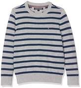 Tommy Hilfiger Boy's Ame Stripe CN Sweater L/S Jumper