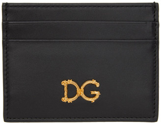 Dolce & Gabbana Black Baroque Card Holder