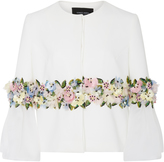 Georges Hobeika Three Quarter Length Sleeve Floral Jacket