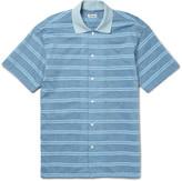Camoshita Terry-Trimmed Cotton and Silk-Blend Shirt