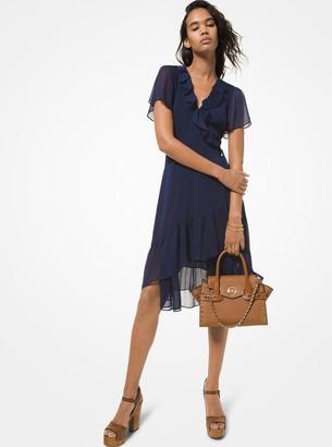 MICHAEL Michael Kors Crinkled Georgette Wrap Dress