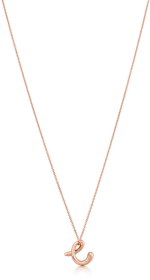 99a1df9060c4f Elsa Peretti Alphabet pendant in 18k rose gold Letters A-Z available - Size  C