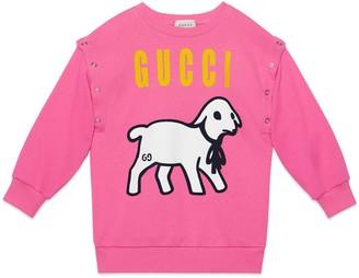 Gucci Children's lamb print cotton sweatshirt