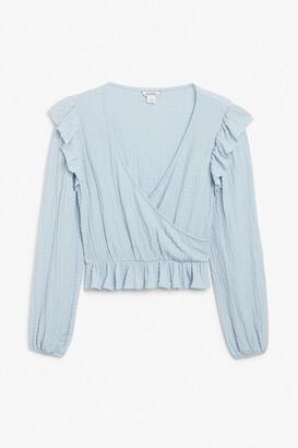 Monki Flounce blouse