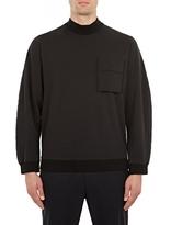 Oamc Black Flight Mock-Neck Sweatshirt