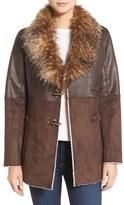 Jessica Simpson Mixed Media Faux Shearling Jacket