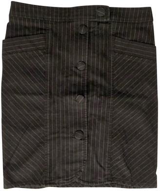 Et Vous Navy Cotton - elasthane Skirt for Women