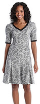 London Times Petites' Printed Fit And Flare Dress