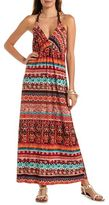 Charlotte Russe Braided Strap Printed Maxi Dress