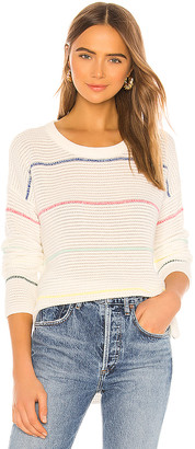 Michael Stars Long Sleeve Striped Scoop Neck Sweater